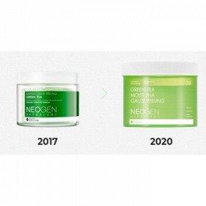 NEOGEN GREEN TEA MOIST PHA GAUZE PEELING Пилинг-пэды с зелёным чаем (30EA-190ML) EXP 2023/06/22