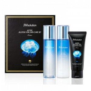 JMsolution Aсtive Jellyfish Vital Skin Care Set (3 items) Трёх этапный уходовый набор с коллагеном медузы