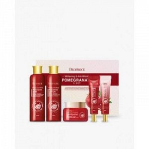 Deoproce Whitening & Anti-Wrinkle Pomegranate 5 Set Подарочный набор на основе экстракта граната
