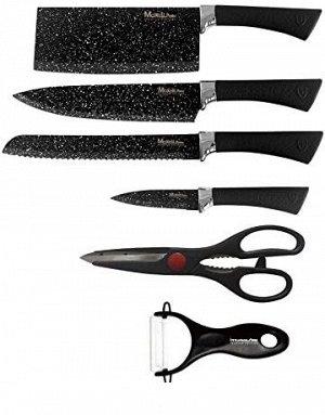 Набор кухонных ножей Zepter с топориком и ножницами, 6 предметов (КН-2436А)