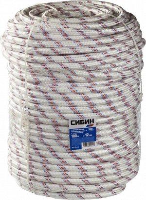 Фал плетёный полипропиленовый СИБИН 24-прядный с полипропиленовым сердечником