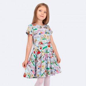 Платье Соль&Перец для девочки Цвет: комбинированный