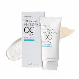 СС крем 3W Clinic Crystal Whitening CC Cream SPF50 PA+++ 50ml