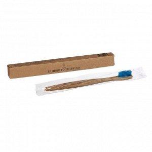 Бамбуковая зубная щётка для взрослых, синяя