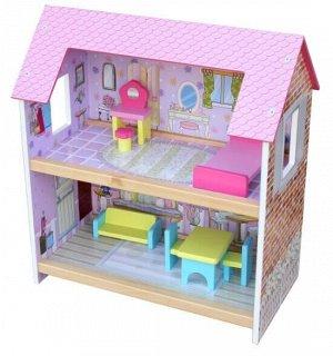 Деревянные игрушки: Кукольный дом  ТХ1036 (1/5) (разм. 44*24*48см)