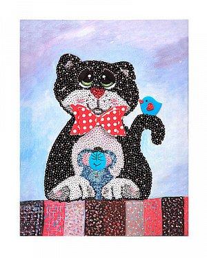 "Мозаика из пайеток на холсте ""Кошки-мышки"" МХ-19"