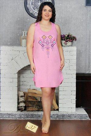Сорочка женская «Надин» розовый орнамент
