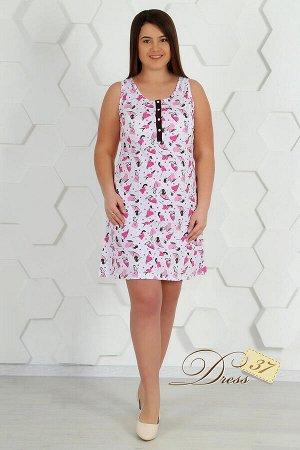 Сорочка «Ольга» розовая
