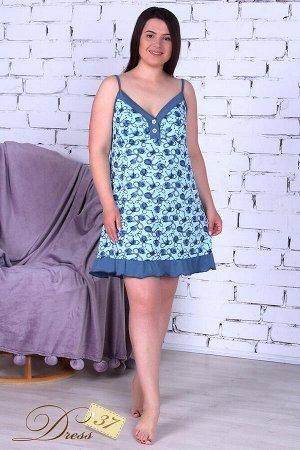 Сорочка женская «Лекси» голубая