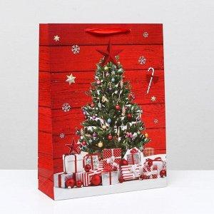 """Пакет ламинированный """"Новогодние подарки"""", 31 x 42 x 12 см"""