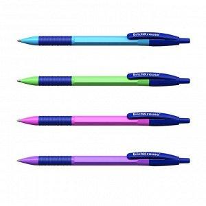 """Ручка шариковая автомат ErichKrause """"R-301 Neon Matic&Grip"""" узел 0.7, чернила синие, корпус МИКС"""