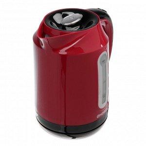 Чайник электрический ENERGY E-210, 2200 Вт, 1.7 л, пластик, красный
