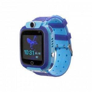 """Смарт-часы Prolike PLSW12BL, детские, цветной дисплей 1.44"""", IP67, 400 мАч, голубые"""