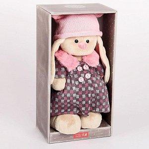 Мягкая игрушка «Зайка Ми», в пальто и розовой шапке, 32 см