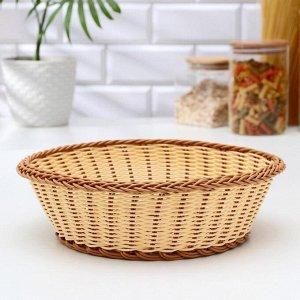 Корзинка для фруктов и хлеба Доляна «Молочный шоколад», d=27 см