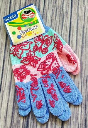 Перчатки Очень классные! Яркие! Весна-осень. Одинарная вязка.Состав: 95% акрил, 5% спандекс.  Длина 18,5см, ширина по ладошке 8см.