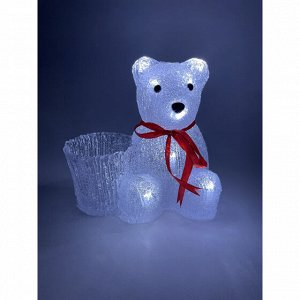 Фигуры ENIOF-12  ЭРА Фигура LED Медвежонок с корзинкой, 3АА