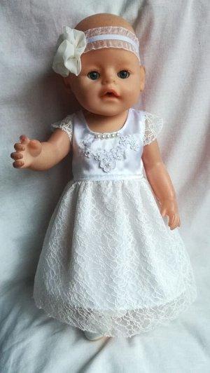 Праздничное платье,из атласа,  повязка