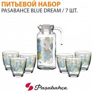 Питьевой набор Pasabahce Blue Dream  / 1 кувшин + 6 стаканов