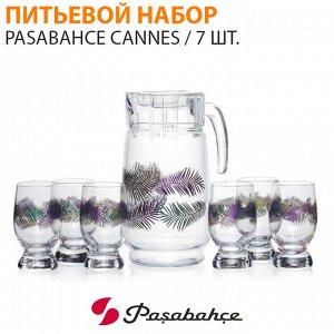 Питьевой набор Pasabahce Cannes / 1 кувшин + 6 стаканов