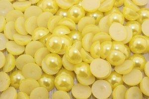 Полубусины под жемчуг (желтый) 12мм в упаковке 50 шт.