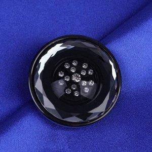Пуговица декоративная, d = 39 мм, цвет чёрный