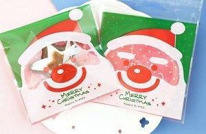 """Пакет ПВХ-""""Дед Мороз"""" с клеевой полоской"""