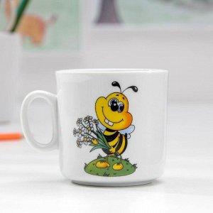 Кружка Добрушский фарфоровый завод «Пчёлы», 200 мл