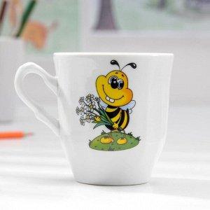 Кружка Добрушский фарфоровый завод «Пчёлы», 250 мл