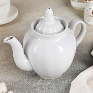 """Чайник 900 мл """"Гранатовый"""", цвет белый"""