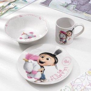 Набор посуды детский «Флуффи», 3 предмета