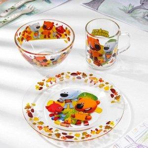 Набор посуды «Ми-Ми-Мишки. Веселый урожай», 3 предмета