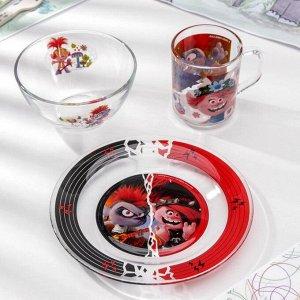 Набор посуды «Тролли 2. Рок», 3 предмета