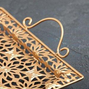 Поднос сервировочный «Золотые цветы», 45?26?6 см