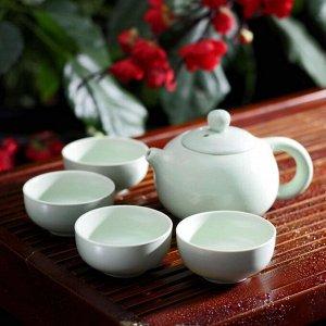 Набор для чайной церемонии «Небо», 5 предметов: чайник 200 мл, 4 чашки 50 мл
