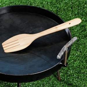 Садж сковорода с ручками, 30 см, лопатка в комплекте