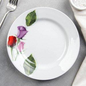 """Тарелка мелкая 20 см """"Королева цветов"""""""