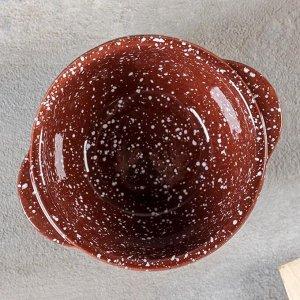 Бульонница «Мрамор коричневый» 500 мл, d=14 см