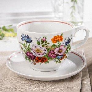 Чайная пара «Букет цветов», 600 мл