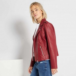 Куртка в байкерском стиле - красный