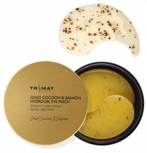 Патчи для век с экстрактом золотого кокона и икры лосося Gold Cocoon & Salmon Hydrogel Eye Patch