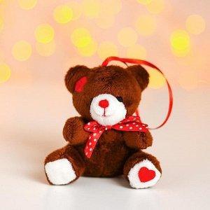 Мягкая игрушка «Мишутка с сердцем», на подвесе, цвета МИКС