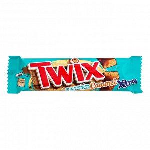 Шоколадный батончик Твикс Twix Соленая карамель,55 г