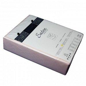 Простынь на резинке сатин 160*200 (персик)