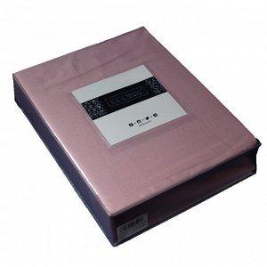 Простынь на резинке сатин 160*200 (сухая роза)