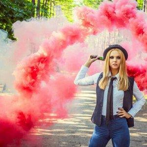 Цветной дым фитиль Красный