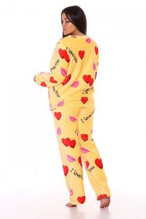 Костюм Ткань: Велсофт; Размеры: 42, 44, 46, 48, 50, 52; Цвет: Желтый