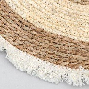 Коврик плетёный «Тори» 60?60 см