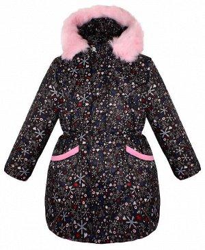 Тёплая куртка для девочки чёрного цвета Цвет: черный