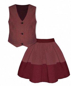 Бордовый костюм для девочки Цвет: бордовый